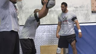 Saudi athletes fight fatigue at historic WWE tryout