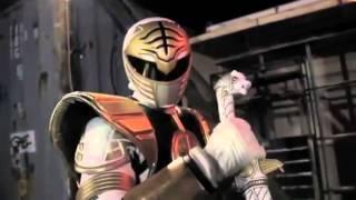 White Ranger vs Scorpion ( with white ranger tiger power song)