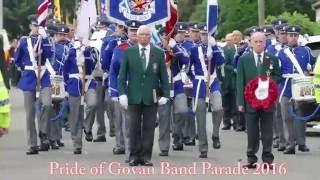 The Pride Of Govan (The POG)  Band Parade 2016 - Craigton Road