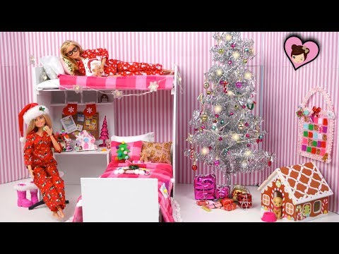 Xxx Mp4 Barbie Twins Decorate Their Pink Bunk Bed Room For Christmas 3gp Sex