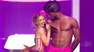 Kylie Minogue Gets Naughty With A Semi-nude Male Dancer