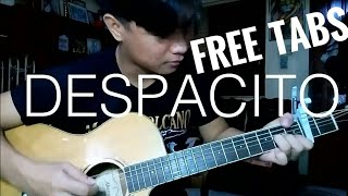 DESPACITO (with TABS) - Luis Fonsi, Daddy Yankee ft. Justin Bieber Fingerstyle Cover