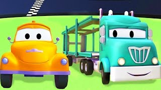 Tom The Tow Truck with the Car Carrier and their friends in Car City | Trucks cartoon for kids