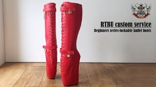 RTBU beginner ballet series-knee hi ballet boots with real lockable straps