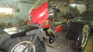 Трайк ИЖ (каракат), на шинах низкого давления ,часть 4 мост. - youtube online downloader- hqtuve.com
