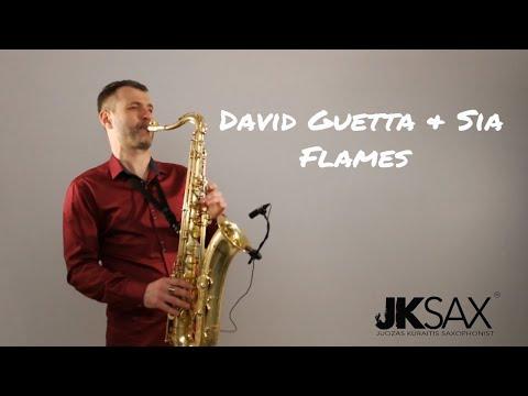 David Guetta & Sia - Flames [Saxophone Cover] by JK Sax (Juozas Kuraitis)