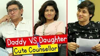 Rasika, Uday Tikekar, Suyog   Dad Vs Daughter & Cute Counsellor   Bus Stop Upcoming Marathi Movie