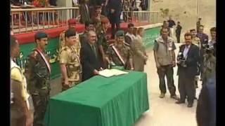 ابو حرب حسن الملصي اثناء تكريمه في التخرج من الكليه