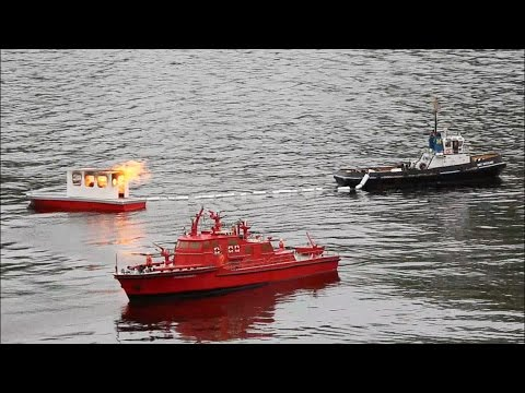 RC Boats Maritime Search and Rescue Mission - IGS Hunte Falkensteinsee