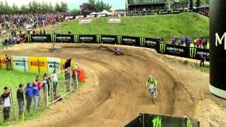 2015 European Championship EMX125 Pietramurata Race One Highlights - motocross