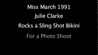 Julie Clarke in a Sling Bikini
