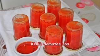 Kışlık muhteşem domates sos tarifi herşeye kullanılır kahvaltiya yemeklere ....