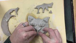 Kids Art Project - Clay Cat Face