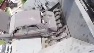 Máquinas gigantes: O maior triturador de carros do mundo.
