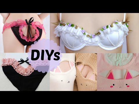 3 Cute&Sexy DIYs: DIY Pastel Gothic Spiked Bra +DIY Cut out Panties + DIY Cat Keyhole Sweater