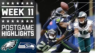 Eagles vs. Seahawks   NFL Week 11 Game Highlights