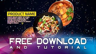 Restaurants Food promo | After Effects Template + Free Download + Tutorial