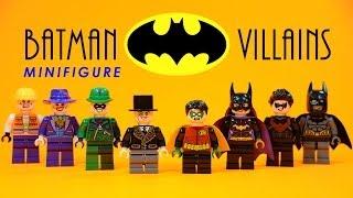 LEGO Batman Heroes vs Villains KnockOff Minifigures w/ Robin Batgirl Nightwing & Joker