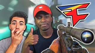INSANE 1v1 AGAINST FAZE PRO PLAYER!! COD WW2 FUNNY SNIPING MOMENTS