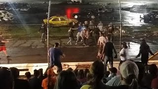 Fighting after Demolition Derby, 2015 Crash-O-Rama