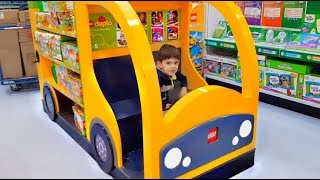 WHEELS ON THE BUS Song Ride on Big Yellow Bus Kids Fun