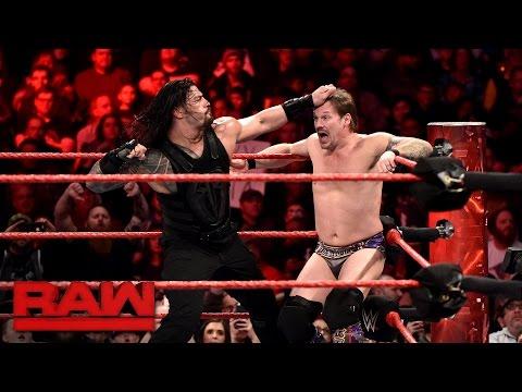 watch Roman Reigns vs. Chris Jericho - United States Championship Match: Raw, Jan. 23, 2017