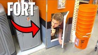 FORT IN HIDDEN SECRET DOOR!