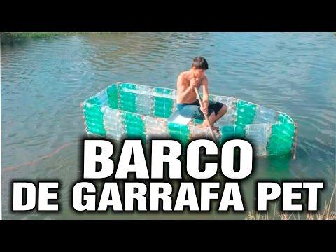 Barco ecológico feito de garrafas pet Projeto executado por Jairo A. Cordeiro