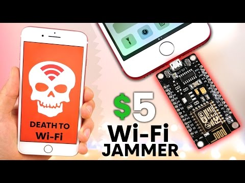 The Illegal 5 WiFi Jammer for iPhone & Android