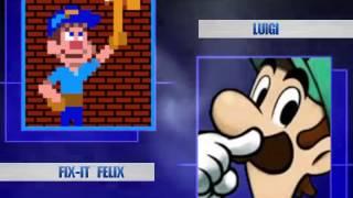 MUGEN Team Gauntlet ~ Fix-it Felix & Wreck-it Ralph VS Team Luigi