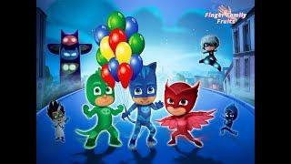 PJ Masks Popping Balloon Colors Finger Family Nursery Rhymes for children