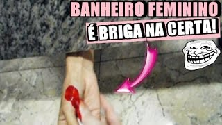PEGADINHA No Banheiro Feminino - Sangue Falso (Deixando a Mulherada LOUCA)