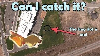 Trying to Catch a Rubber Chicken Dropped by a DJI Phantom Drone