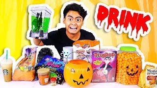 Mixing Everything Halloween Into A Drink!