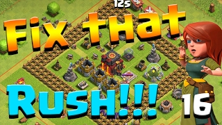 Clash of Clans: Let's FIX THIS RUSH!! ep16 - GiGoBArch DE Farming + King lv7