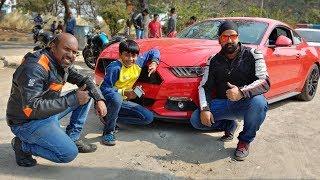 Driving Mustang   Hyderabad Meetup - Ft. Dino's Vault!!