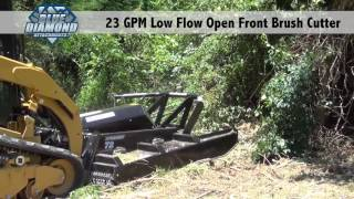 Open Front Brush Cutter : Low flow 23 gpm demo