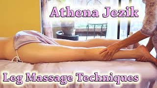 Pure Relaxation Lower Body Massage Therapy Techniques For Legs, Thighs & Feet ASMR