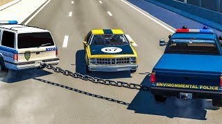 CHAINS CRASHES #2 - BeamNG Drive
