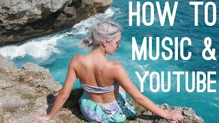 HOW TO USE MUSIC ON YOUTUBE - COPYRIGHT FREE VIDEOS