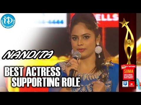 SIIMA 2014 - Tamil Best Actress in Supporting Role | Nandita | Ethir Neechal