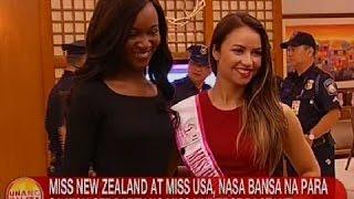 UB: Miss New Zealand at Miss USA, nasa bansa na para sa kick off party ng Miss Universe Pageant