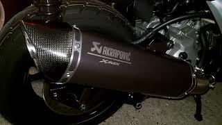 Akrapovic Black Muffler,Exhaust X MAX 300 Yamaha