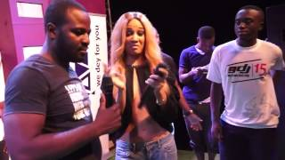 Sister Deborah - Goes braless @ Ghana DJ Awards 2015 campus tour - GhanaMusic.com Video