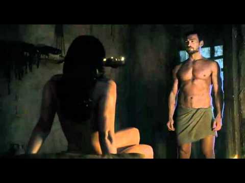 Spartacus Ep9 1 Scena sesso Lucrezia con Batiato e Mira con Spartacus