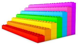 Learn Colors with Lego Blocks 3D rainbow video for kids