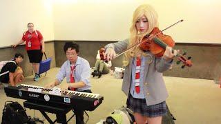 Anime Expo 2015 Jams! Kaori + Kousei play Hikaru Nara
