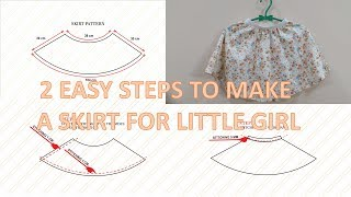 How to make a simple skirt for a little girl