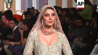 Pakistan's bridal couture fashion week kicks off in Lahore with designs inspired by the Mughal era