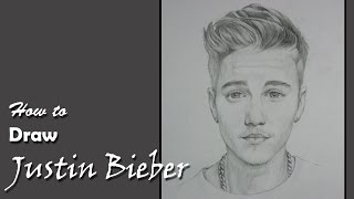 Drawing Justin Bieber with Pencil